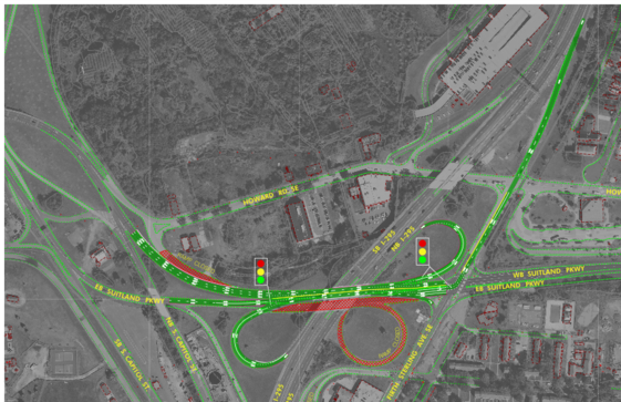 Map of Suitland Parkway Lane Closures