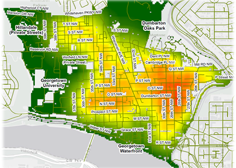 example image of a heatmap