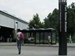 South Dakota Avenue Transportation and Streetscape Study - Fort Totten Metro bus shelter area and man walking