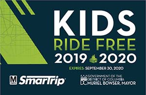 Front of Kids Ride Free Card