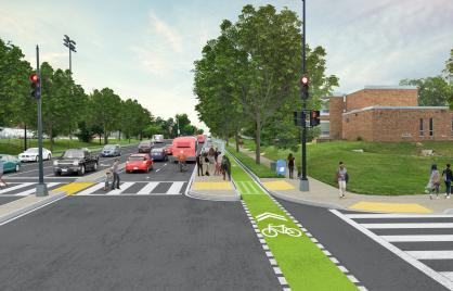 Rendering of East Capitol Street Safety Improvements