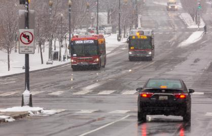 DC Circulator in snow