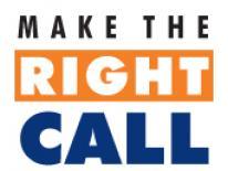 make the right call logo