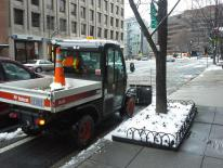 Toolcat plows bike lane