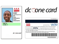 Photo of a sample DC One Card