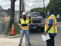 public space inspectors on site