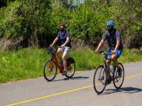bikers on the Anacostia River Trail
