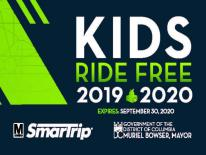 Kids Ride Free SmarTrip Card 2019-2020