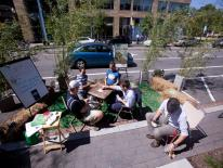 The Office of Planning's Park(ing) Day space in 2013.