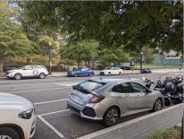 car sharing vehicles on street