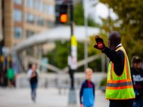 DC School Crossing Guard at work