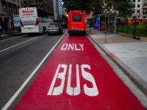 Red bus only lane