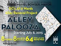 AlleyPalooza Kickoff Graphic - 8 Wards, 8 Alleys, 64 Total Alleys Renewed