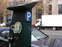 Parking Meter Equipment - multi-space meter on street