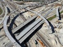 Policy and Process for Access to the District of Columbia Interstate and Freeway System - overhead view of freeway overpasses and bridges
