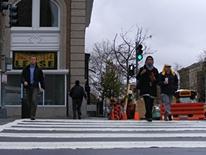 Pedestrian Program - people using a crosswalk in DC