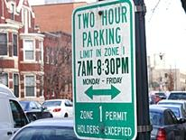 Residential Permit Parking - green and white residential permint parking sign