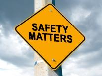 "Safety Matters Projects - yellow hazzard streetsign warning ""Safety Matters"""
