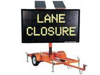 Temporary Northbound Curb Lane Closure Planned for South Capitol Street, SE - Lane Closure sign