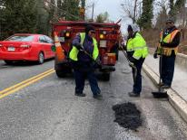 Pothole Repair on street