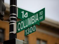 Columbia Rd Street Sign