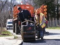 DDOT Pothole Repair - pothole machine at work