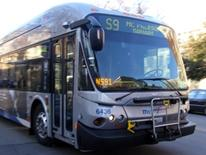 photo of a grey metrobus