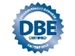 Disadvantaged Business Enterprises - DBE blue on white background emblem
