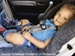 Child Safety Seat Program - Rear-facing car seat with child belted-in